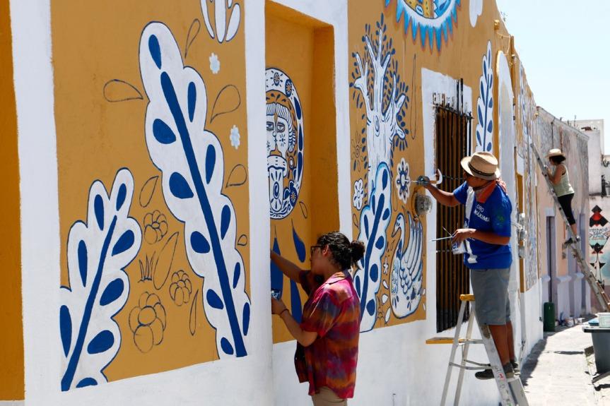 Barrio mexicano reduce la criminalidad a través delarte