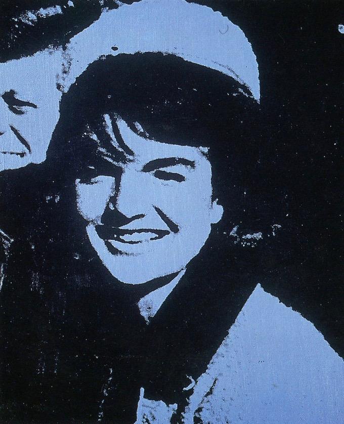 Andy WarholJackie (sonriendo), 1964Pintura de polímero sintético y serigrafía sobre tela50.8 x 40.6 cmLa Colección Jumex, México