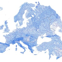 The Beautiful Map of Europe Drawn by Its Rivers and Streams